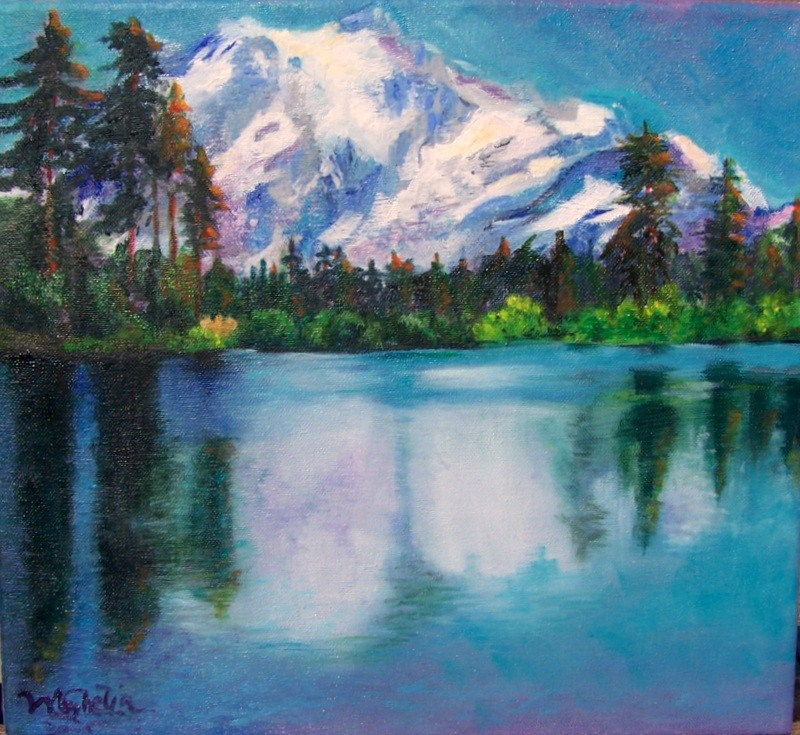 """Glacier Lake"" original fine art by Maureen Ghetia"