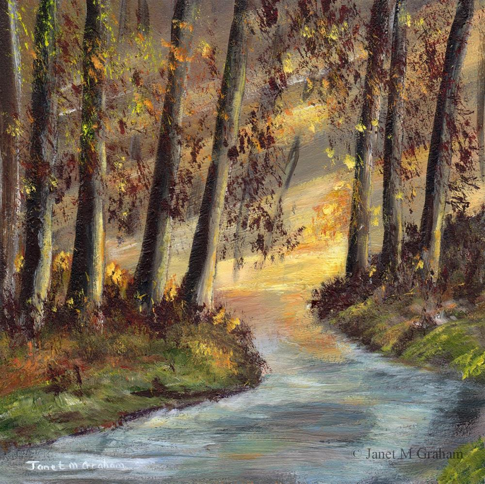 """Autumn Morning"" original fine art by Janet Graham"