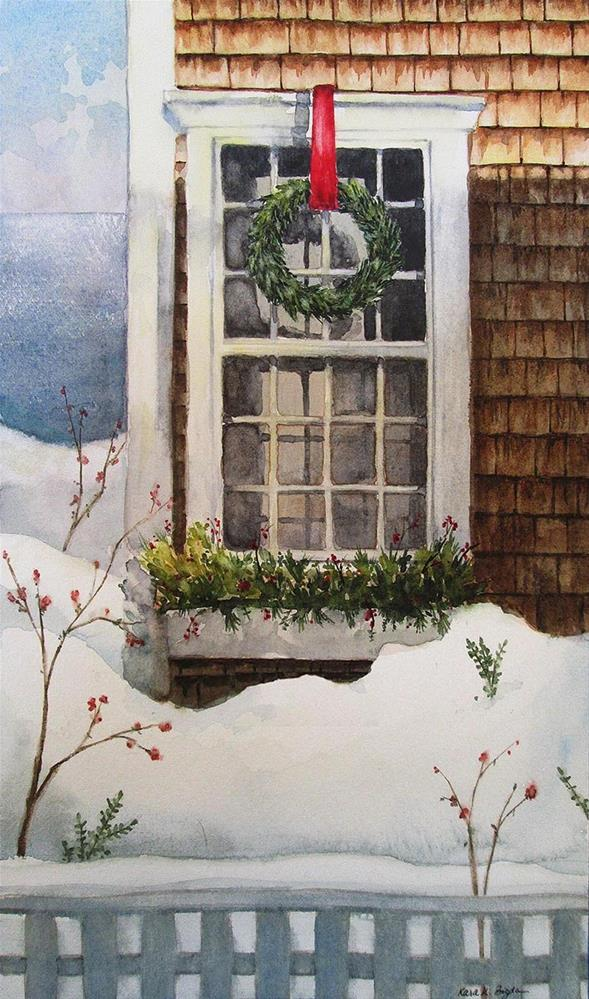 """Nantucket Christmas"" original fine art by Kara K. Bigda"