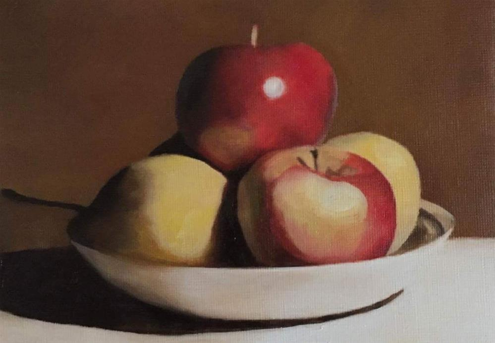 """Fruit Bowl"" original fine art by John Cameron"