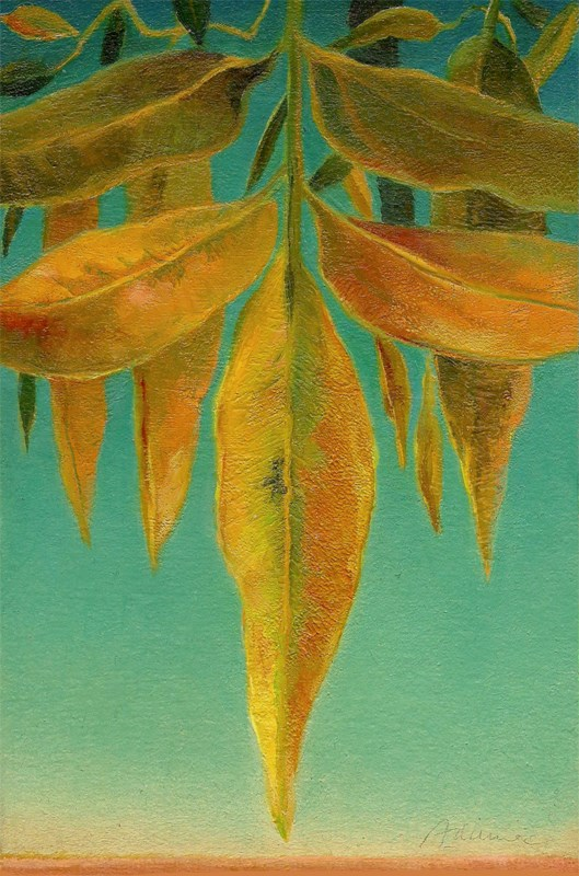 """Autumn Leaves #9 (Twilight)"" original fine art by Carol L Adamec"