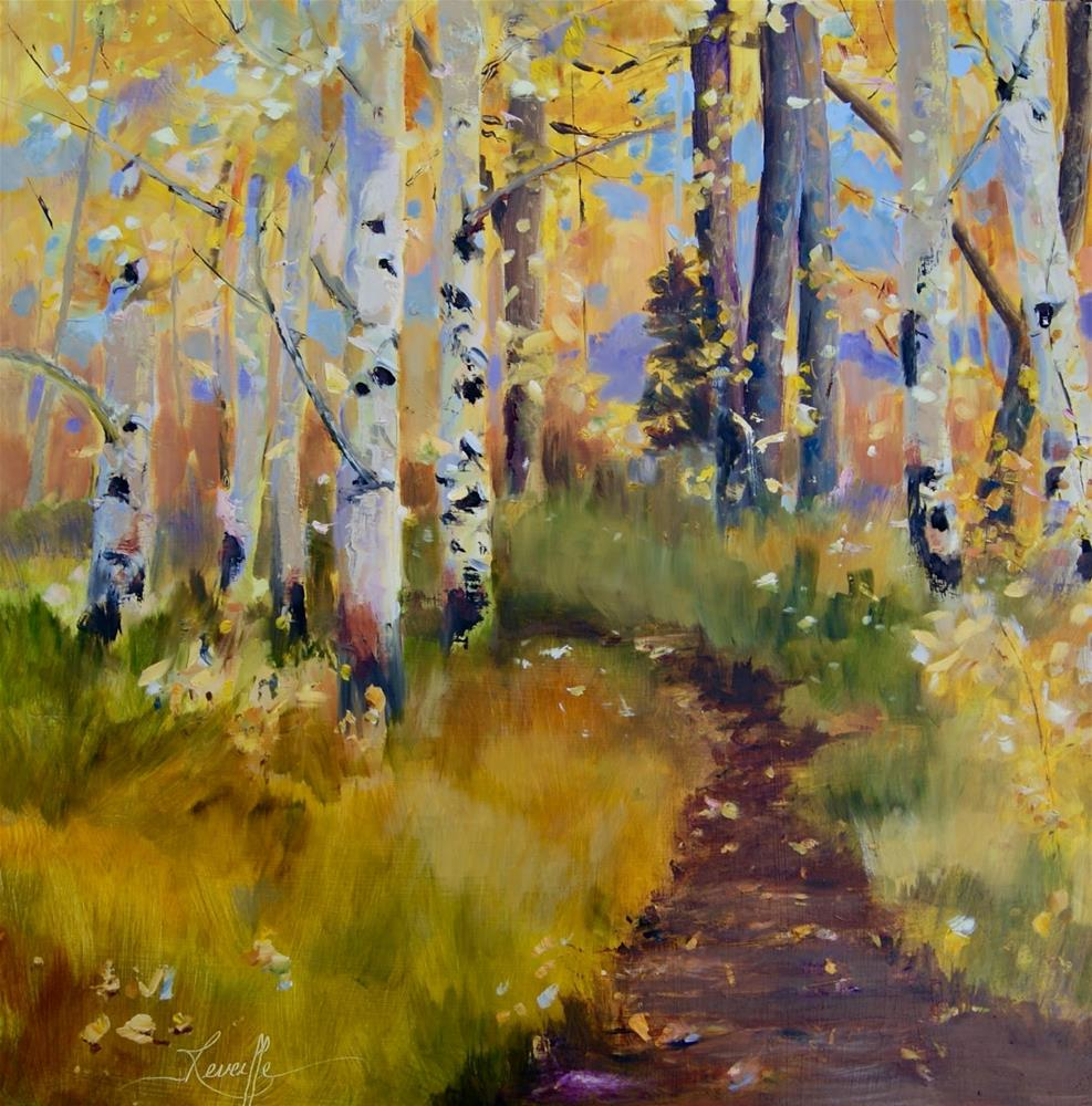 """A Walk in Victor,"" original fine art by Reveille Kennedy"