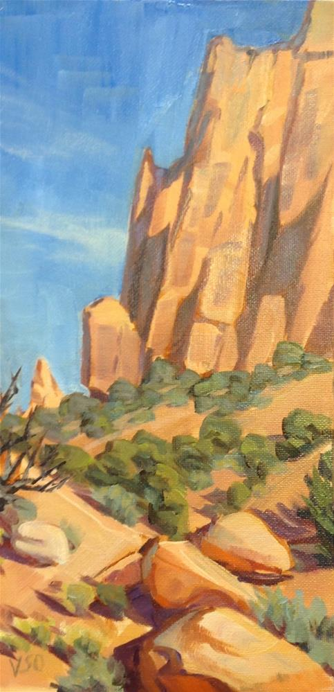 """Long Canyon Spires"" original fine art by Valerie Orlemann"