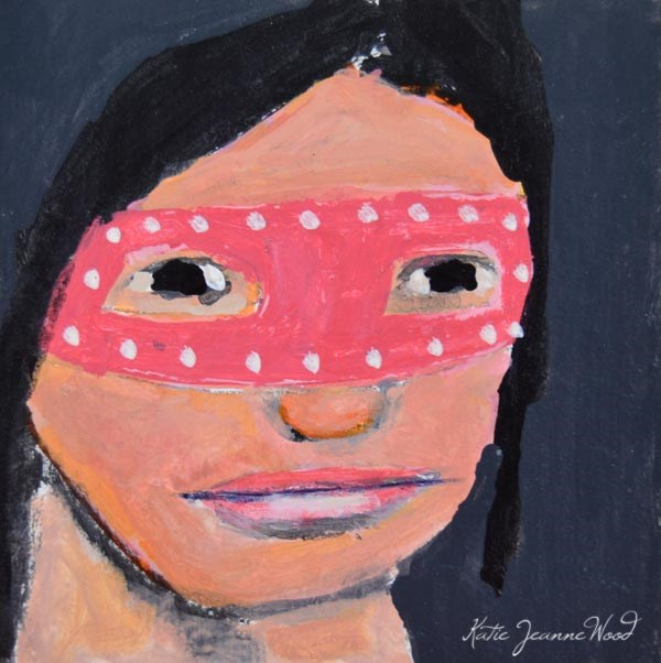 """Masquerade Mask No 18"" original fine art by Katie Jeanne Wood"