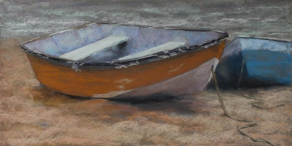 """Stage Harbor Dinghies"" original fine art by Linee Baird"