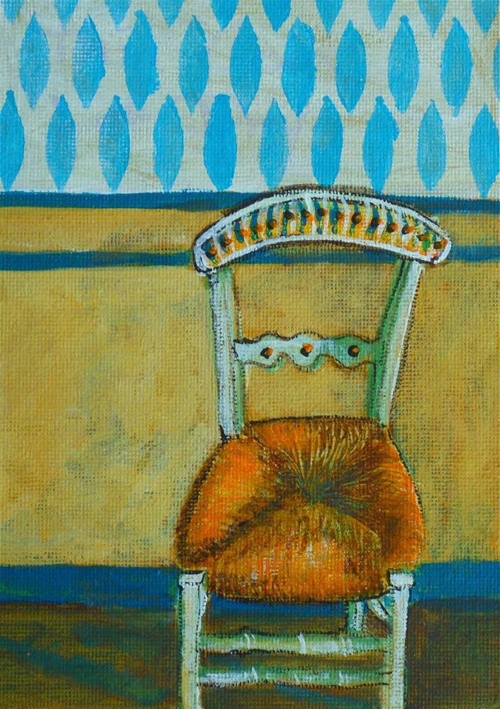 """OLD CANE CHAIR"" original fine art by Mary Ellen Koser"
