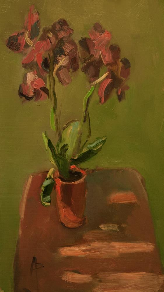 """Plant on Sunlit Table"" original fine art by Andre Pallat"