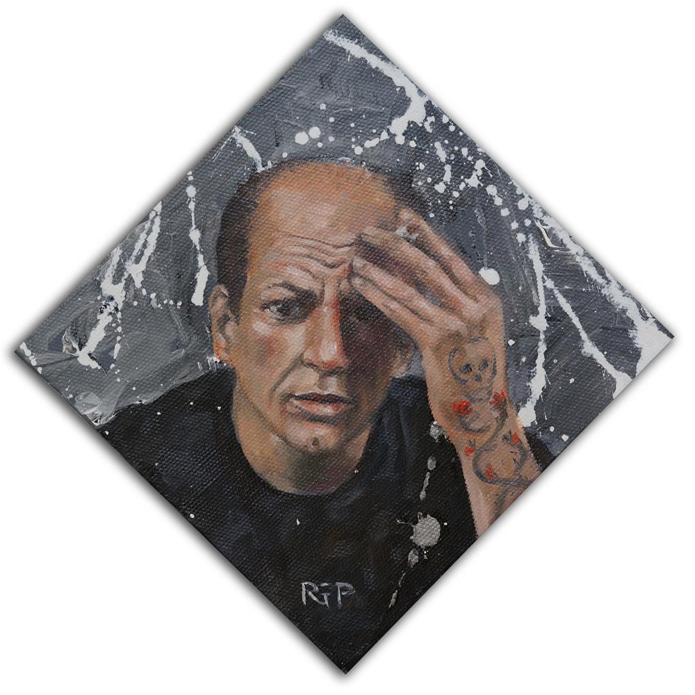 """Jackson Pollock (hipster)"" original fine art by Rhea  Groepper Pettit"