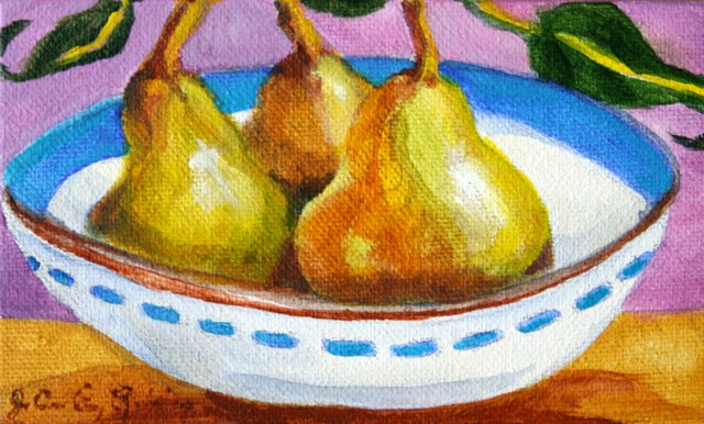 """One Pair and One Pear"" original fine art by JoAnne Perez Robinson"