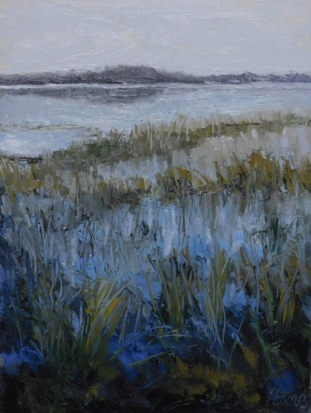 """Marsh View"" original fine art by Lori L. Lamb"