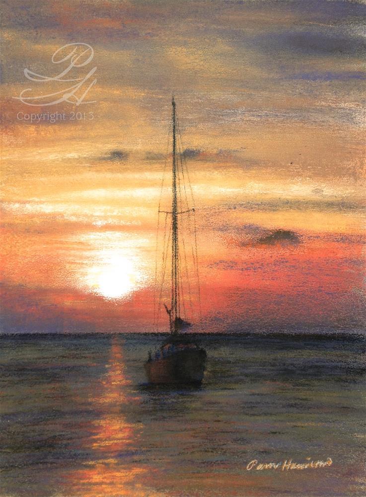 """Sunset Sail"" original fine art by Pamela Hamilton"