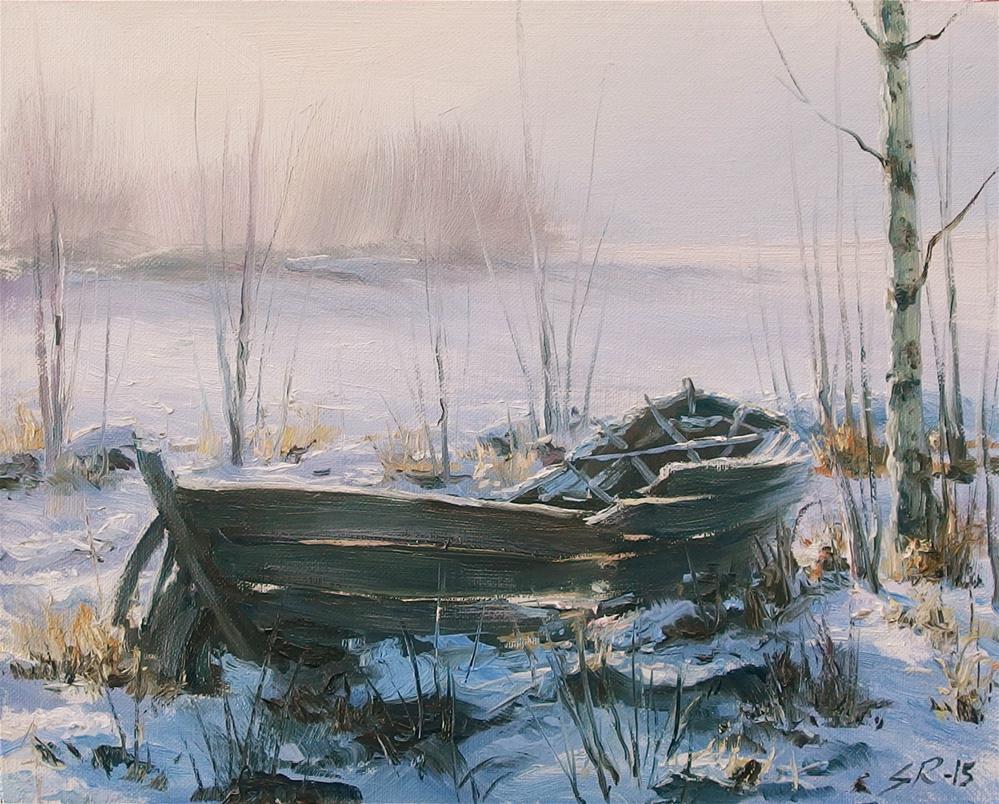 """Abandoned"" original fine art by Stig Rosenlund"