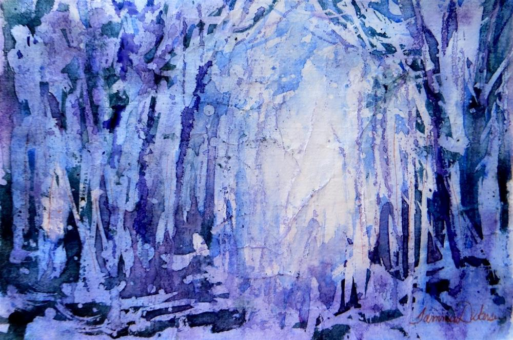 """Night Forest"" original fine art by Tammie Dickerson"