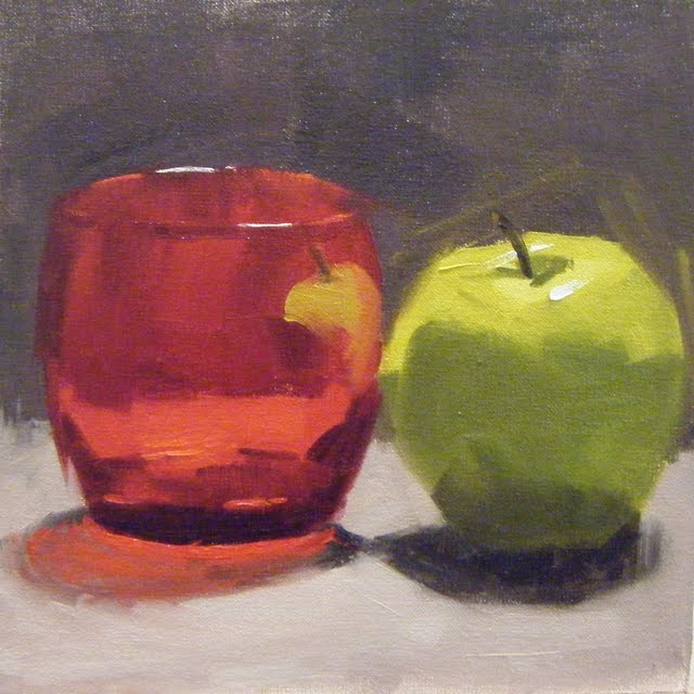 """RUBY RED"" original fine art by Helen Cooper"
