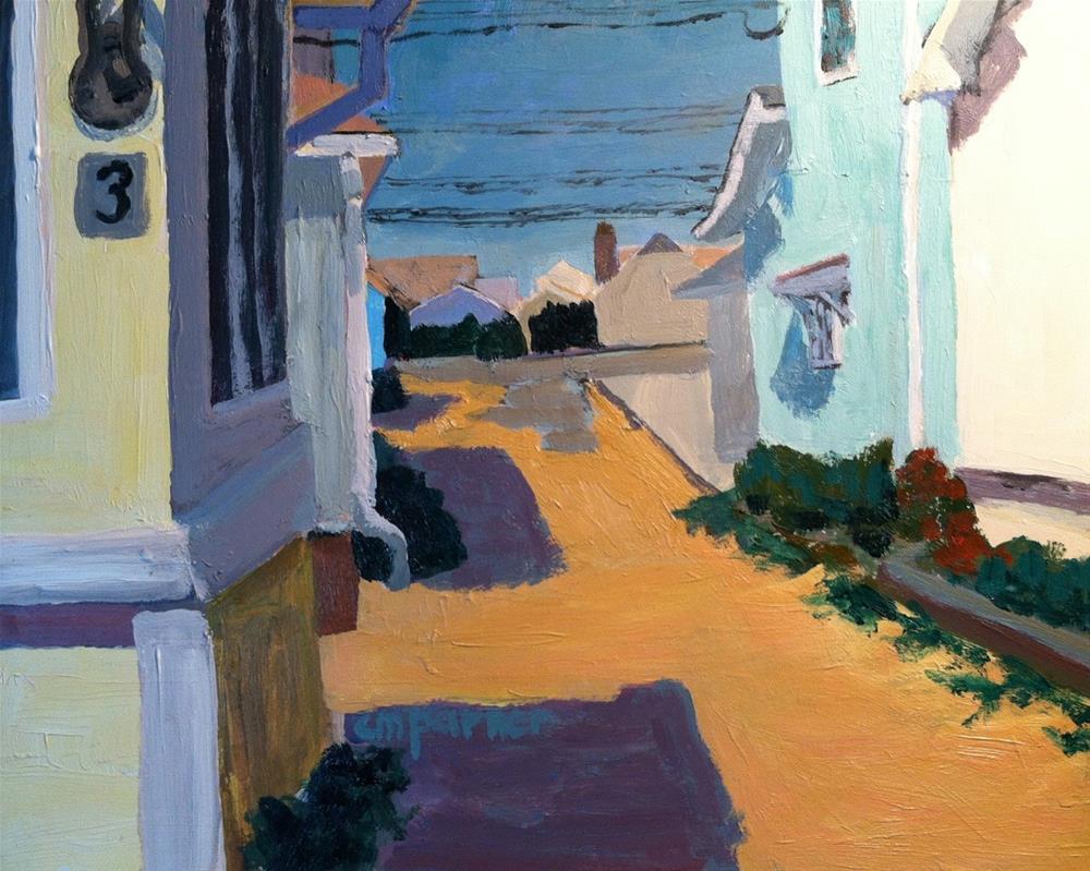 """Beach Cottages, 11/14/13"" original fine art by Christine Parker"