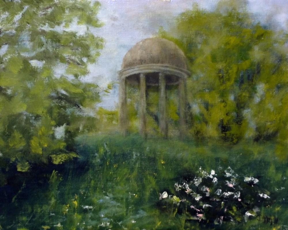 """Temple On The Hill"" original fine art by Dalan Wells"
