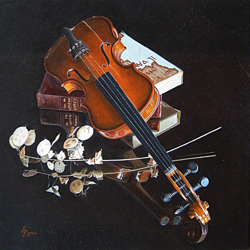"""Fiddlesticks"" original fine art by Alex Zonis"