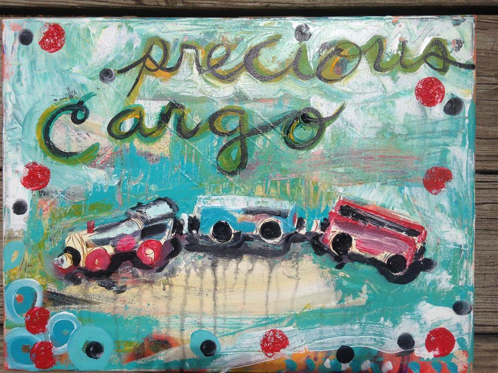 """Choo"" original fine art by Nicole Saunders"