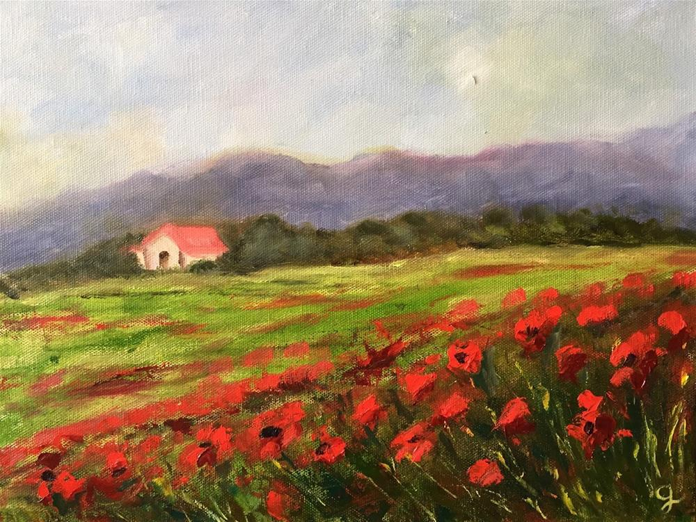 """Poppy Field"" original fine art by Gayle Lambeth"