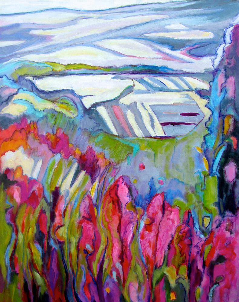 """The Valley Below Saignan II"" original fine art by Patricia MacDonald"