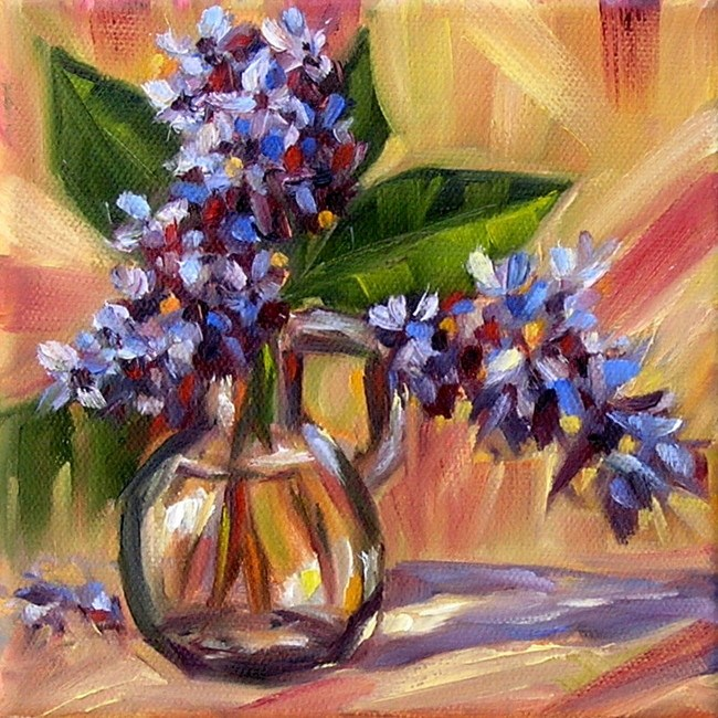 """Lilac from my garden"" original fine art by Irina Beskina"