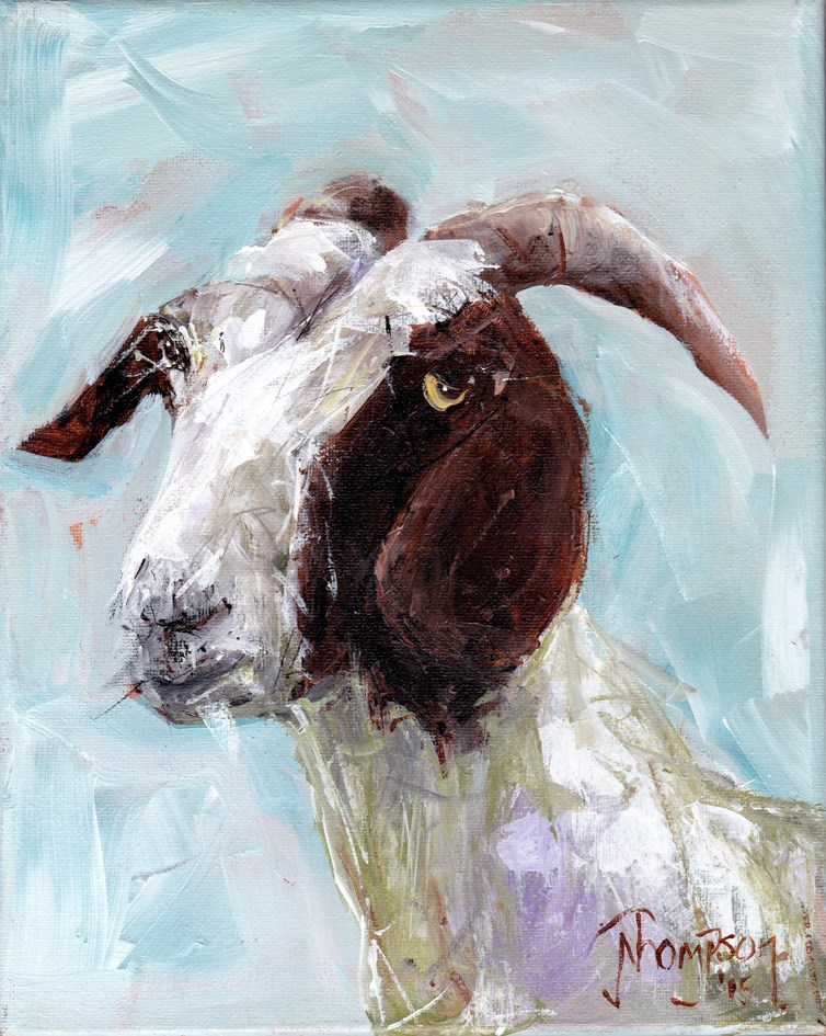 """Regal Goat"" original fine art by Norma Thompson"