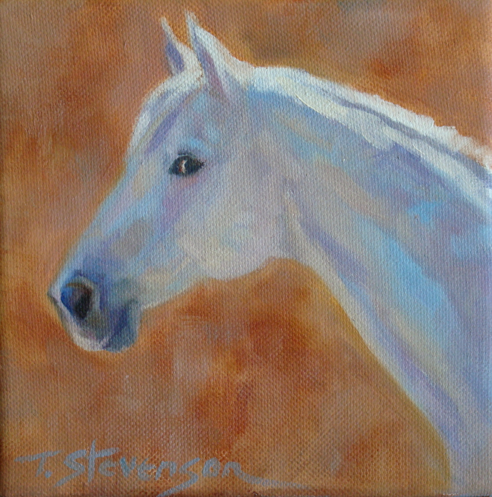 """Excuse Me?"" original fine art by Trish Stevenson"