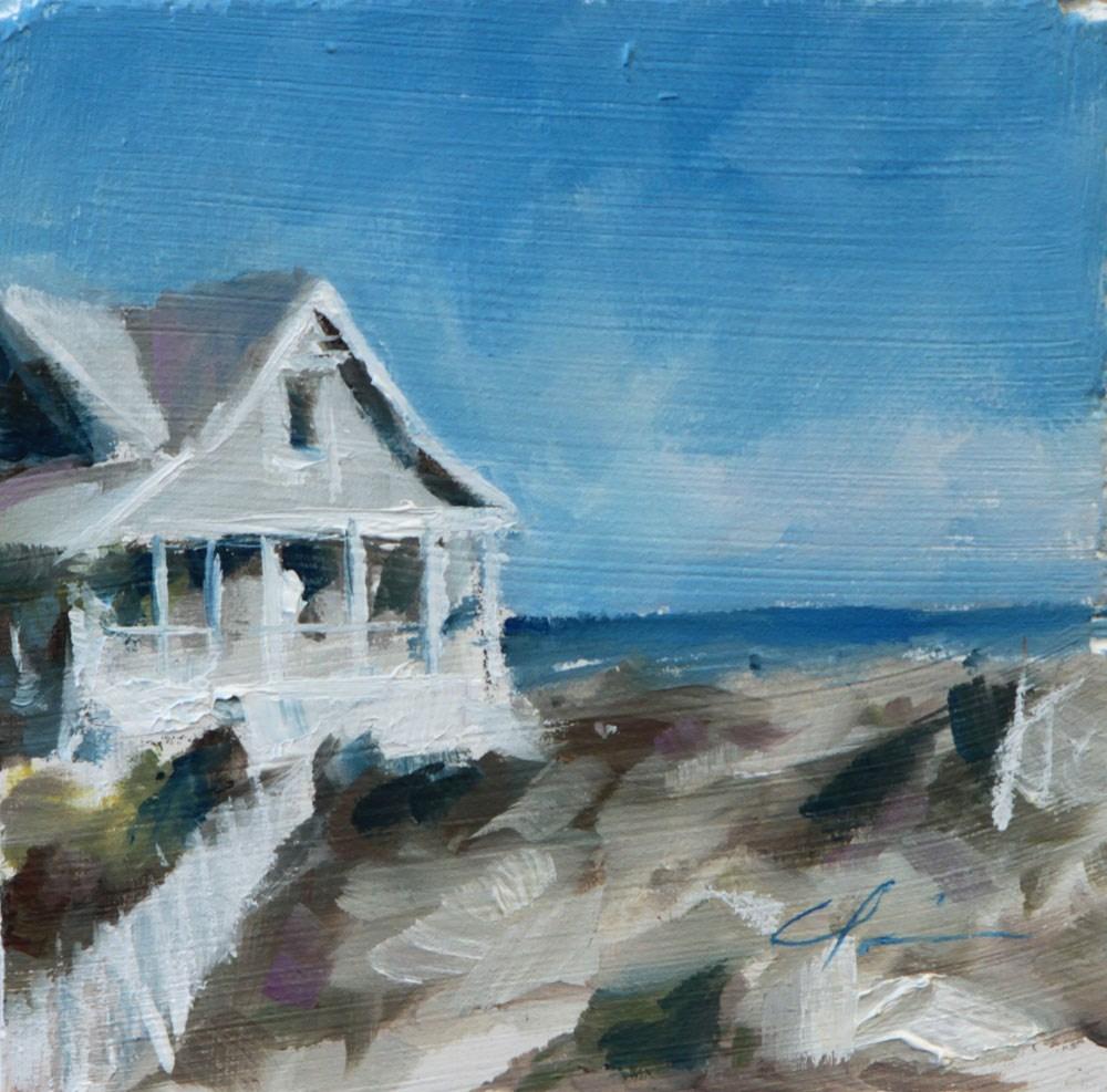 """""""Beach House"""" original fine art by Clair Hartmann"""