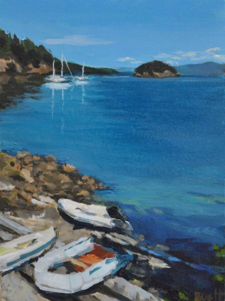 """Eagle Harbor"" original fine art by Shari Buelt"