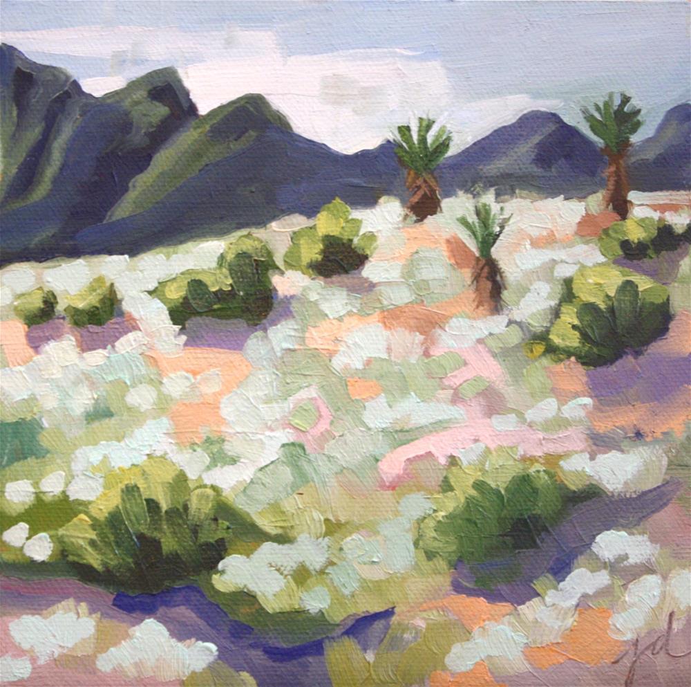"""Three Yuccas"" original fine art by Jessie Dodington"