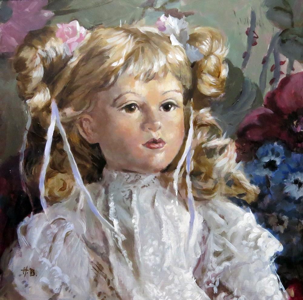 """doll 1"" original fine art by Harry Burman"