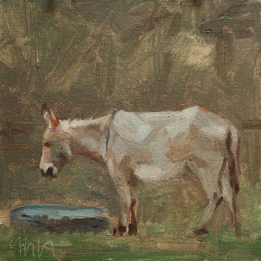 """donkey"" original fine art by Yuehua He"