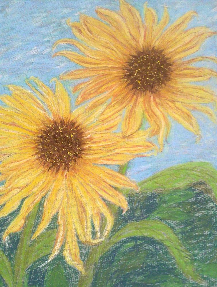 """Sunflowers I"" original fine art by Jules Fine Art Gallery"