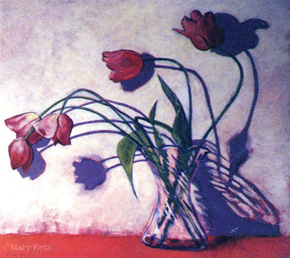 """shadows tulips"" original fine art by Mary Firth"