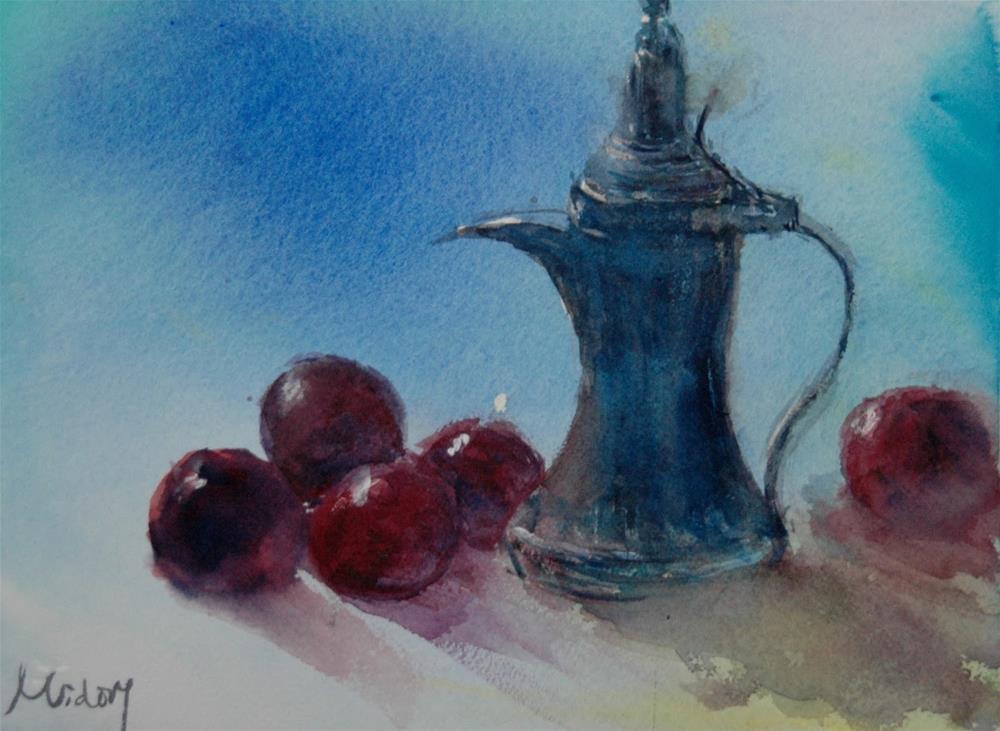 """""""Coffee pot"""" original fine art by Midori Yoshino"""
