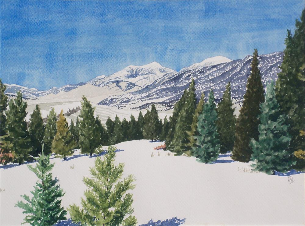 """Baldy Peak II"" original fine art by Greg Arens"