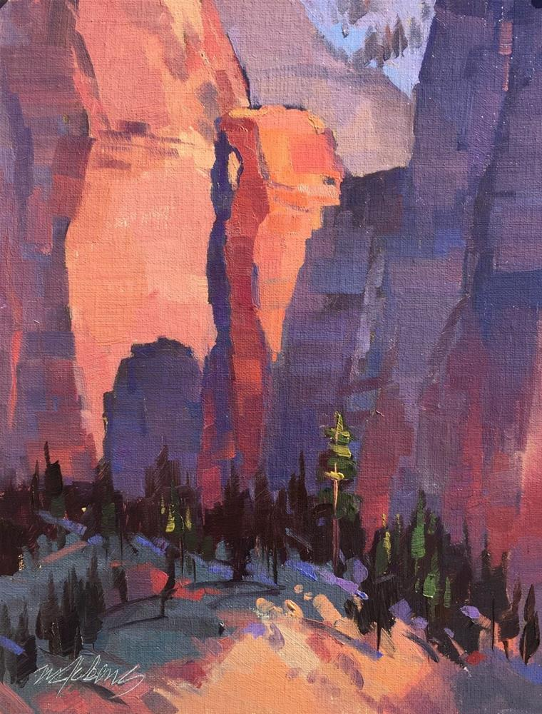 """Hidden Arch - Kolob Canyons"" original fine art by Mary Jabens"