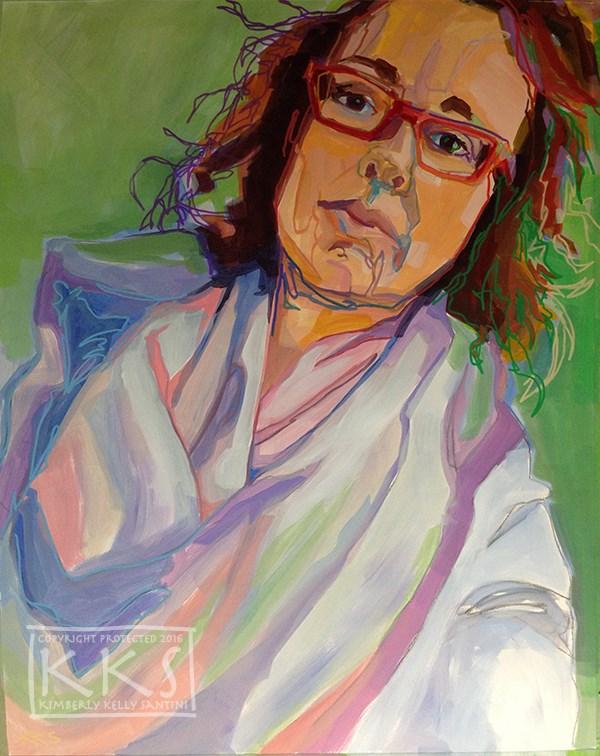 """Selfie 1-1-2016"" original fine art by Kimberly Santini"