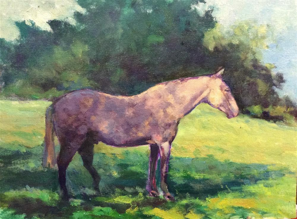 """The Dappled Grey Mare"" original fine art by John Shave"