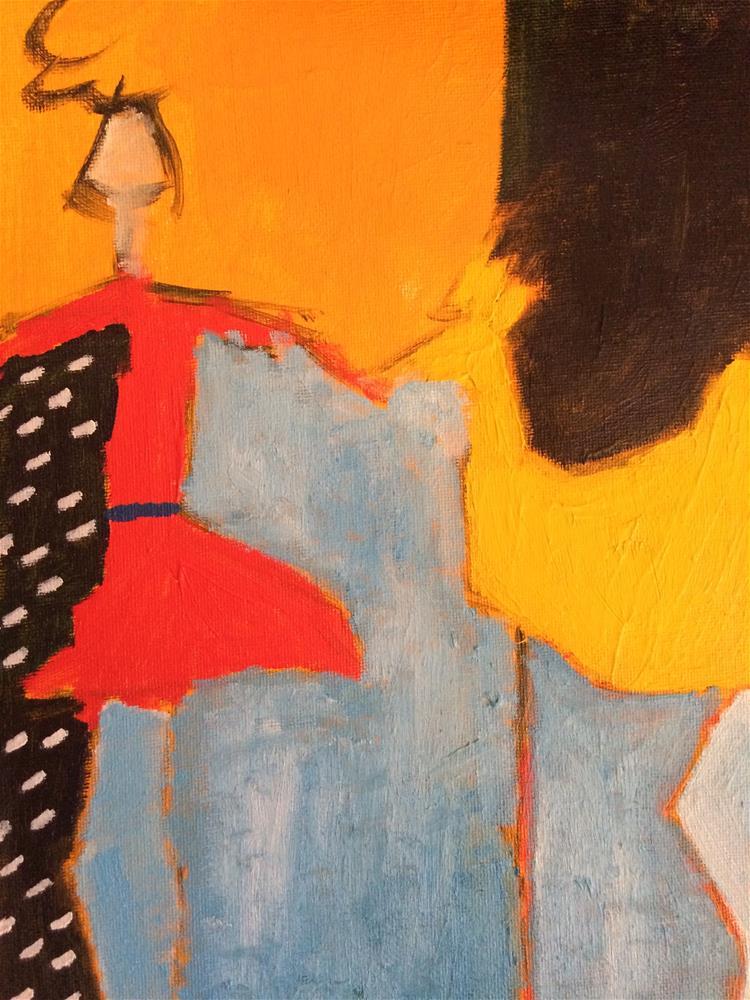 """Redress girl with spring chicken"" original fine art by pamela kish"