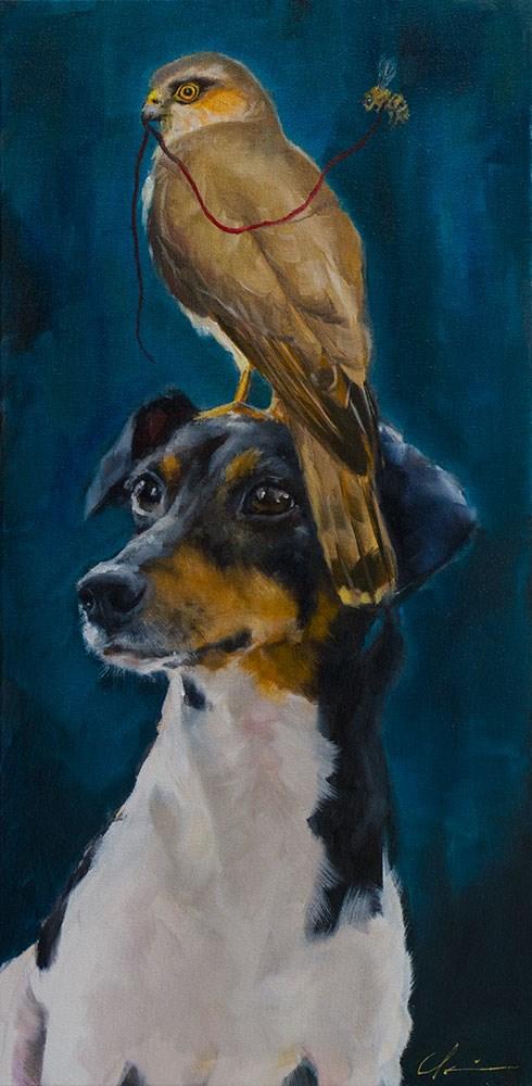 """""""The Gardian"""" original fine art by Clair Hartmann"""