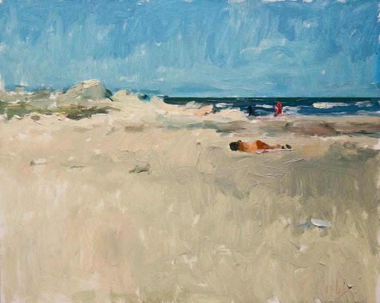 """""""Distant Shore"""" original fine art by Randall Cogburn"""