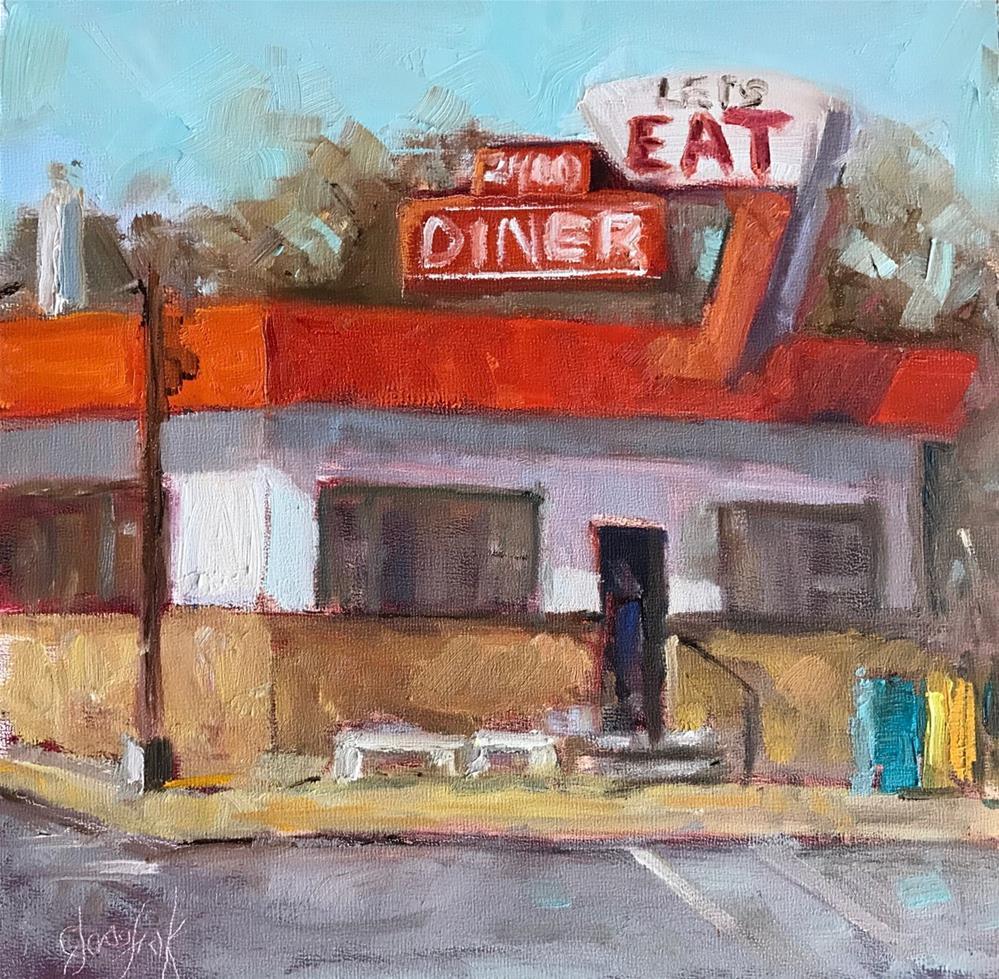 """Let's Eat"" original fine art by Carol Josefiak"