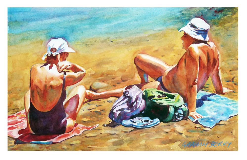 """It's too hot"" original fine art by Graham Berry"