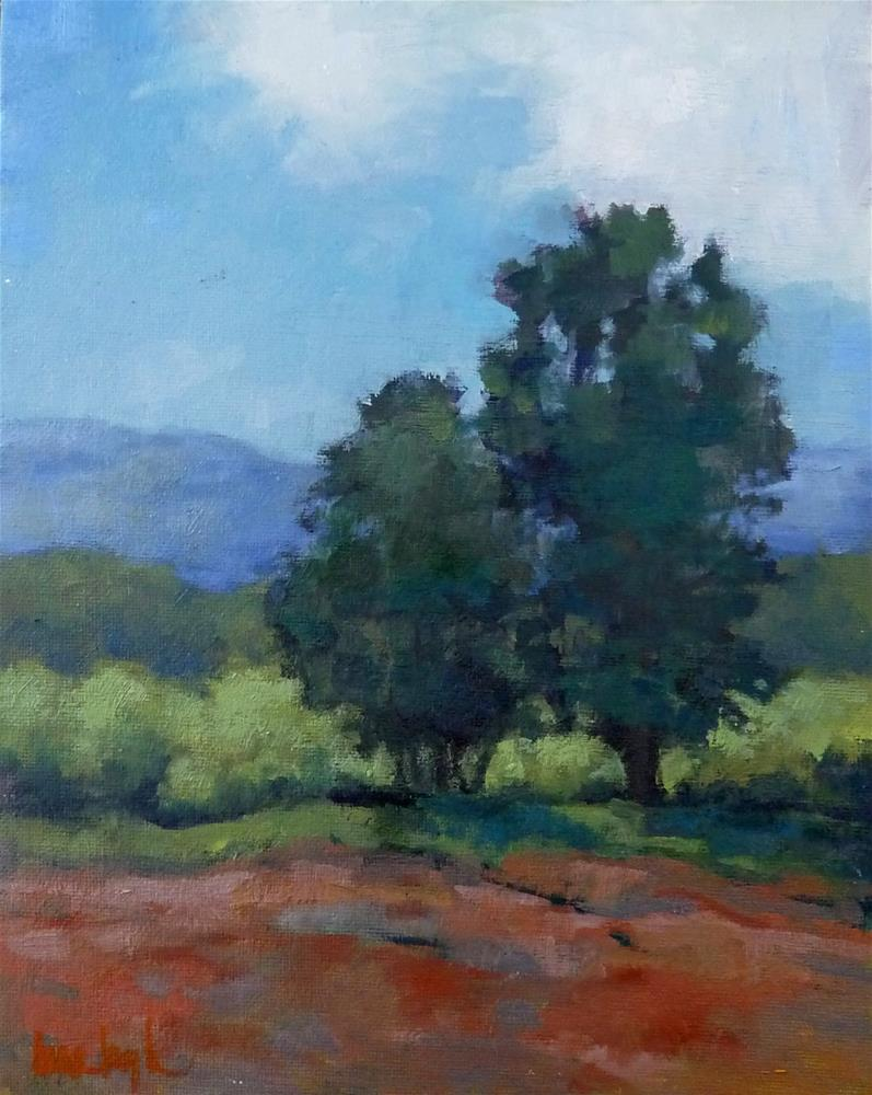 """""""Two Trees"""" original fine art by Lisa Kyle"""