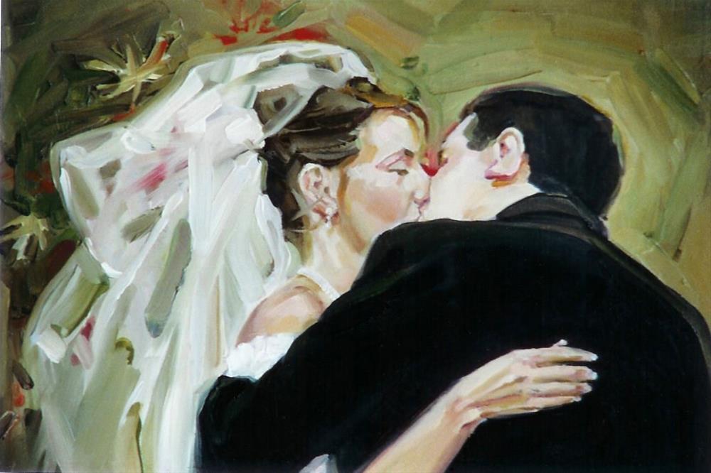 """""""Just Married"""" original fine art by Jeannette Fromm"""