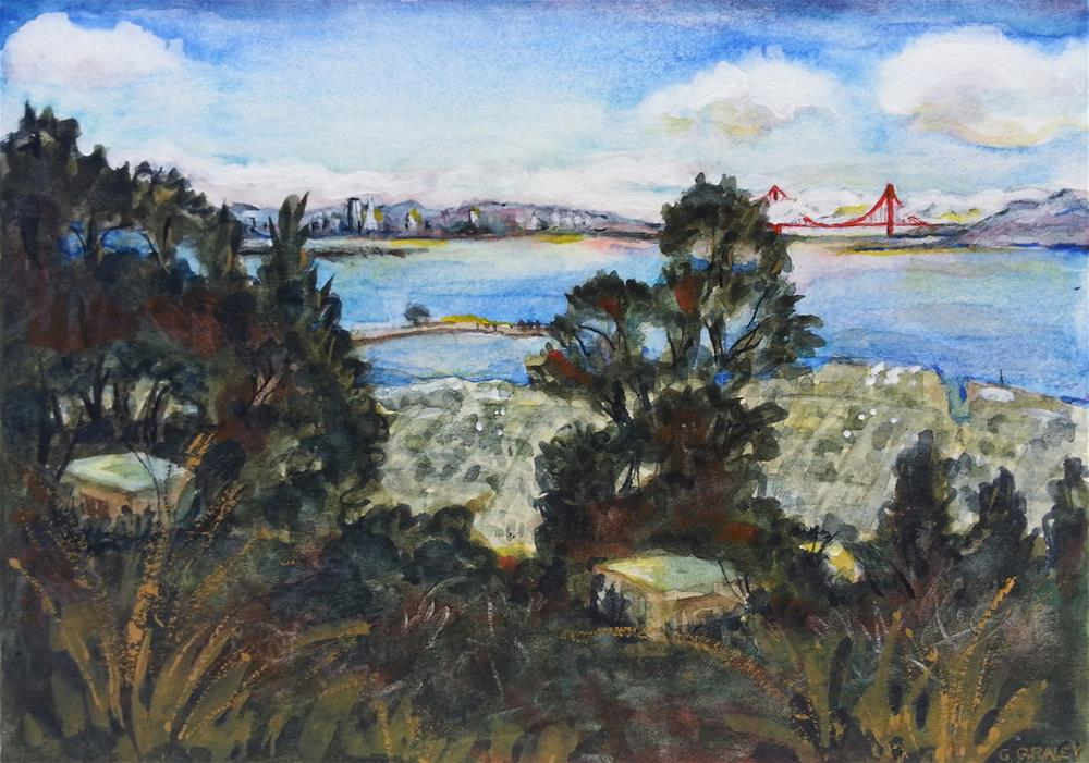 """""""View From East Bay"""" original fine art by Geri Graley"""