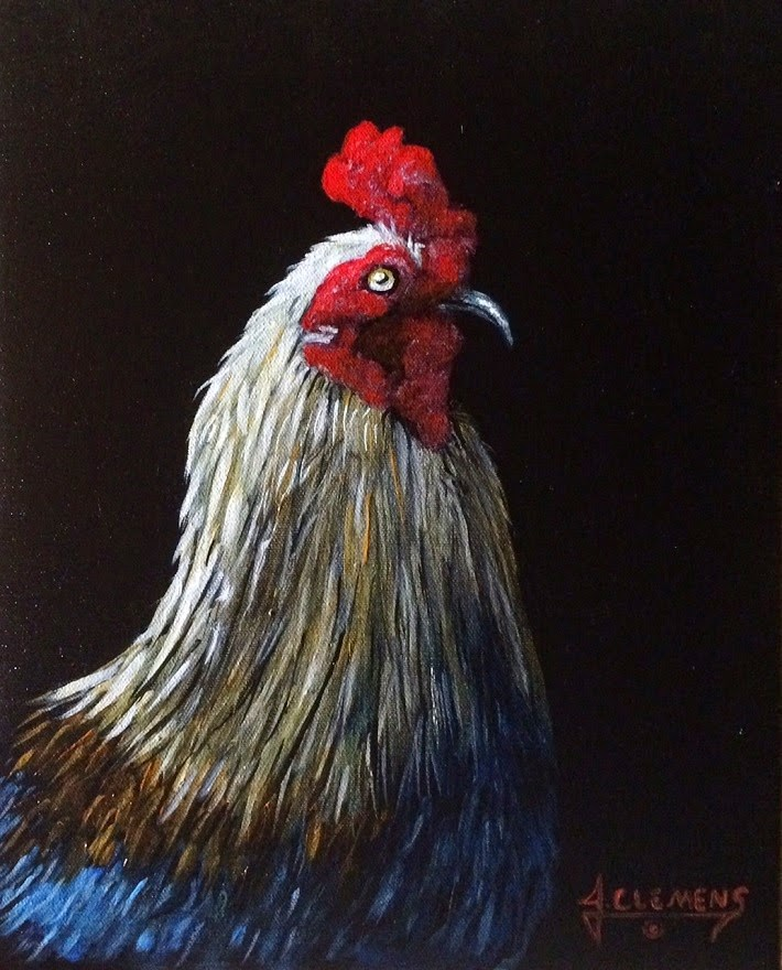 """Mr Roo to you"" original fine art by Jolynn Clemens"
