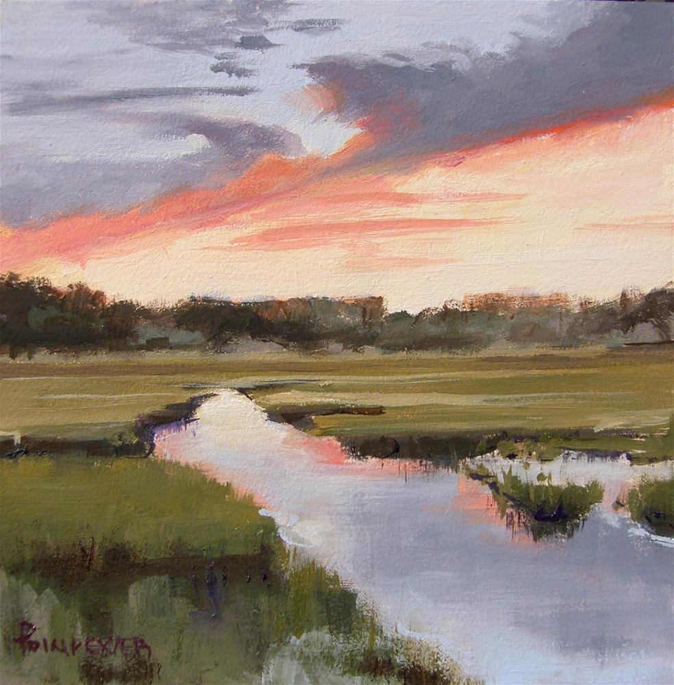 """Marsh at Sunset"" original fine art by Dianna Poindexter"
