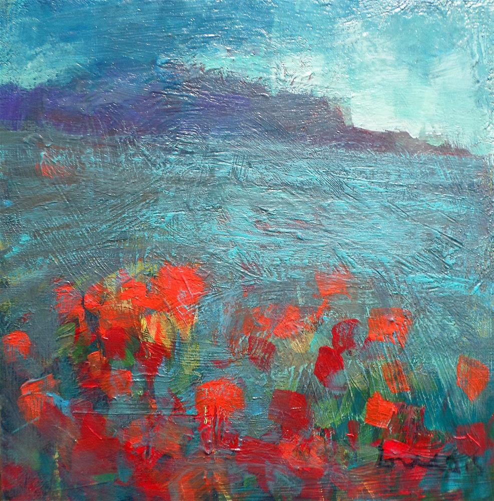 """RED FIELDS"" original fine art by salvatore greco"